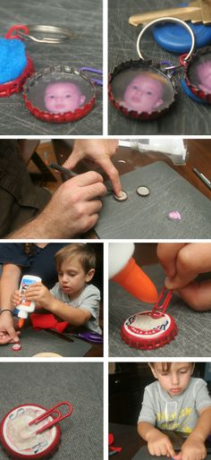 Photo Key Chain | DIY Fathers Day Gift Ideas from Kids | DIY Birthday Gifts for Dad