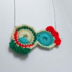 Abstract Crochet Necklace Textile Jewellery