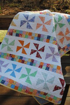 Patchwork Quilt Reproduction 1930's Feedsack Lap Quilt or Twin Coverlet on Etsy, $250.00