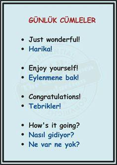 Learn English Words, English Lessons, English Language Learning, Teaching English, English Vocabulary, English Grammar, English Diary, Turkish Lessons, Arabic Sentences