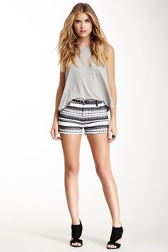 BB Dakota Jalen Textured Stripe Short @Pascale Lemay De Groof