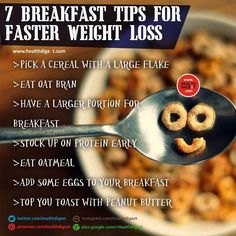 7 breakfast tips for faster weight loss