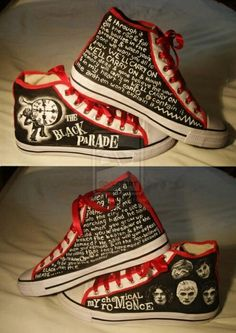 The black parade shoes