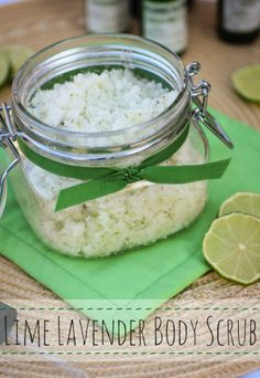 DIY Lime Lavender Body Scrub
