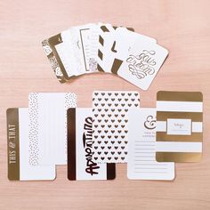 Golden Themed Cards // designed by Becky Higgins