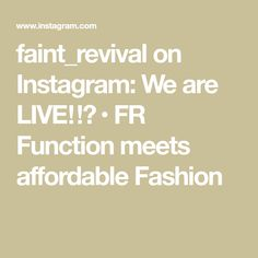 faint_revival on Instagram: We are LIVE‼️ • FR Function meets affordable Fashion Worship Leader, Affordable Fashion, Beats, Father, Live, Instagram, Pai, Dads