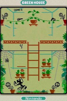 Green House was my favourite handheld electronic game. (Game and Watch by Nintendo) Annoying sounds and caterpillars.