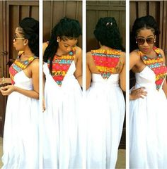 *Afro centric statement necklace + white dress or white jumper