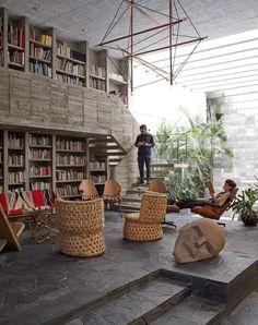 Pedro Reyes, Carla Fernandez, house, brutalism, concrete, minimalism, modernism, mexico, mexico city, grey, cement, paving