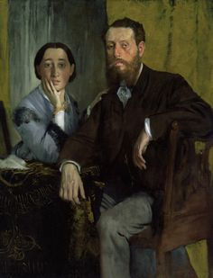 Edgar Degas, Edmond e Thérèse Morbilli, 1865 circa olio su tela, cm 116,5 x 88,3 Boston, Museum of Fine Arts dono di Robert Treat Paine II #RaffaelloversoPicasso #Vicenza