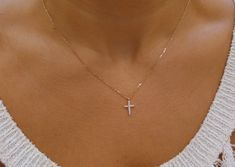 A personal favorite from my Etsy shop https://www.etsy.com/listing/224306831/diamond-cross-necklace-14k-gold-diamond