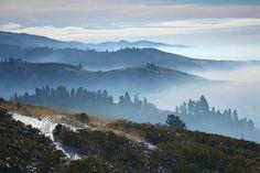 Boise foothills from bogus basin idaho