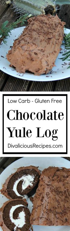 A low carb Yule Log that is a healthier choice for the festive season.