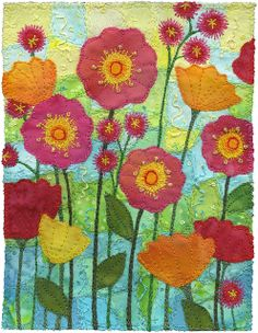 Garden 2 by Kirsten's Fabric Art, via Flickr