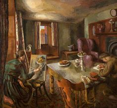duncan grant(1885‑1978), interior, 1918. oil on canvas, 163 x 174.8 cm. national museums northern ireland, uk http://www.bbc.co.uk/arts/yourpaintings/paintings/interior-122057