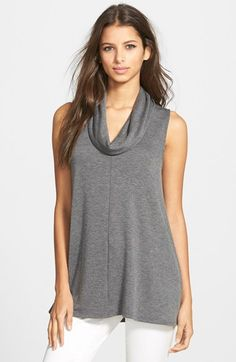 Madison & Berkeley Cowl Neck Sleeveless Top available at #Nordstrom