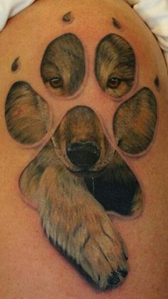 coolest wolf tattoo!