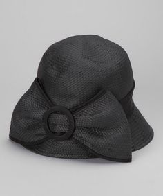 Take a look at this Black Buckle Cloche - Women by San Diego Hat Company on #zulily today!