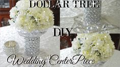 DIY DOLLAR TREE BLING FLORAL WEDDING CENTERPIECE 2017 | PETALISBLESS🌹 - YouTube