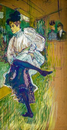 Henri de Toulouse-Lautrec - Jane Avril Dancing, 1892 at Musée d'Orsay Paris France Henri De Toulouse Lautrec, Figure Painting, Painting & Drawing, Art Through The Ages, Illustration, Art For Art Sake, Klimt, Renoir, William Morris