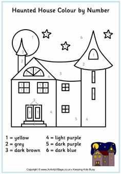Haunted House Coloring Pages Coloring pages wallpaper Omalovnky