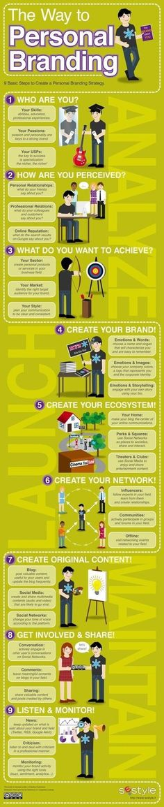 Personal Branding #Infographic - Good for many entrepreneurs in the service industry.