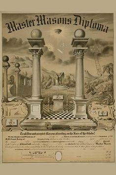 Master Masons Diploma. High quality vintage art reproduction by Buyenlarge. One of many rare and wonderful images brought forward in time. I hope they bring you