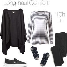 Travel outfit: Long-haul flights by blogfashionpas on Polyvore featuring Madewell, monochrome, comfort, travel, minimal and longhaul