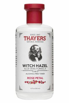 Thayers Alcohol-Free Rose Petal Witch Hazel Toner with Aloe Vera will make your skin bloom. Thayers remarkably soothing Rose Petal Toner is made with rose water, filet of aloe vera, and our proprietary Witch Hazel extract. Aloe Vera Haut, Aloe Vera Creme, Toner Facial, Skin Toner, Thayers Witch Hazel Toner, Thayers Toner, Rose Toner, Lemon Toner, Alcohol Free Toner