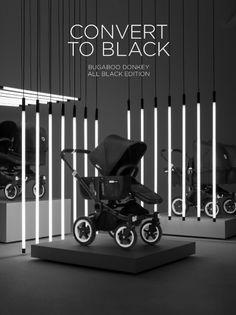 Bugaboo Kinderwagen Donkey Mono All Black Special Edition Bugaboo Stroller, Bugaboo Donkey, Baby Strollers, Kids Store, Baby Store, Back To Black, All Black, Stand Design, Shop Interior Design