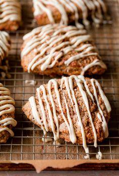 Carrot Cake Scones with Maple Cream Cheese Glaze