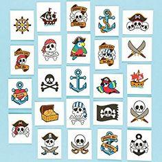 Tatuaggi Pirata da Regalare alle Feste dei Bambini (Confezione da 24)