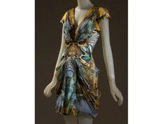 Alexander McQueen, dress, digital printed silk chiffon, spring 2010, England, museum purchase