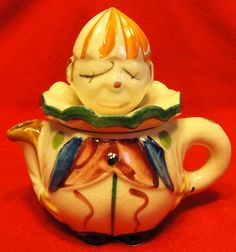 Ceramic Clown Jester Juicer or Reamer Made in Japan