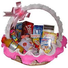 Chocolates, Baby Car Seats, Children, Basket Ideas, Diy, Emoji, Valentine Decorations, Kids Gift Baskets, Balloon Crafts
