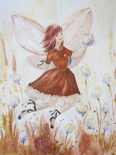 Autumn Ballerina (C) Heidi Eljarbo Fairies, Ballerina, Watercolor, Autumn, Painting, Art, Pictures, Art Background, Faeries