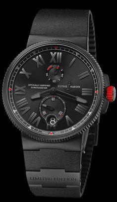 Ulysse Nardin Marine Chronometer Black Boutique Exclusive - see Ariel's piece in…