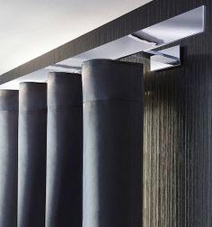 interstil Wellenvorhang / Wave systeem met railtype Sphäre in glanschroom