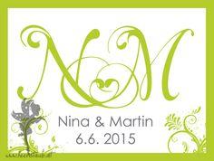 Monogramme | feenstaub.at #weddingmonogram #weddingpapeterie #weddinginvitation #feenstaub #hochzeitseinladung #pocketeinladung www.feenstaub.at