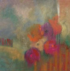 Artists Of Texas Contemporary Paintings and Art: Abstract Contemporary Floral Oil and Texture Paint...