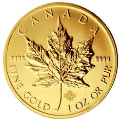 Gold Maple Leaf Coin... Pure gold