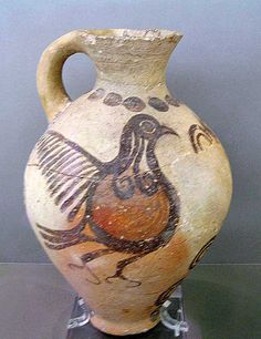 Jug with bird, example of Cycladic art, about 1600 BCE. National Archaeological Museum of Athens