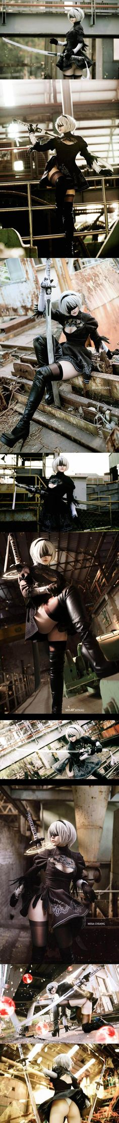 Nier automata 2B cosplay - COSPLAY IS BAEEE!!! Tap the pin now to grab yourself some BAE Cosplay leggings and shirts! From super hero fitness leggings, super hero fitness shirts, and so much more that wil make you say YASSS!!!