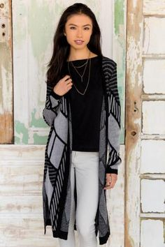Isadora Geometric Sweater Wrap