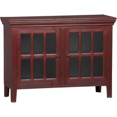 """Rojo Red 46"""" Media Storage Cabinet in Media Stands, Consoles   Crate and Barrel $600"""