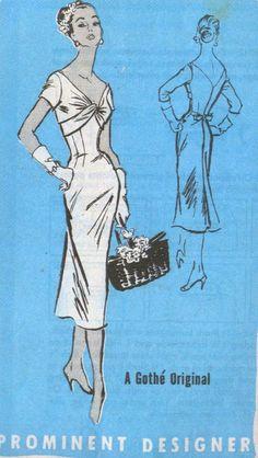 Vintage 50s Mail order pattern Prominent Designer M119