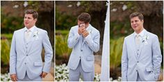 his reaction watching me walk down the aisle