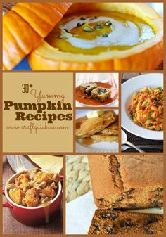 30+ Yummy Pumpkin Recipes