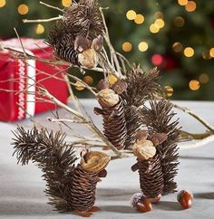 Easy and Cute DIY Pine Cone Christmas Crafts holiday homemade pinecone xmas ornaments homemade pinecone xmas ornaments 8 Pine Cone Art, Pine Cone Crafts, Christmas Projects, Fall Crafts, Holiday Crafts, Crafts For Kids, Kids Diy, Holiday Decor, Christmas Pine Cones