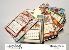 Graphic 45 Time to Flourish Tag Calendar